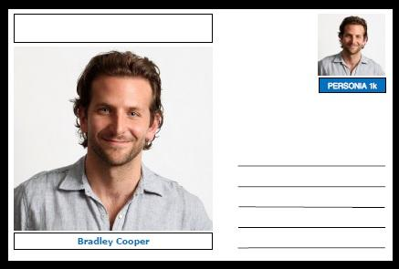 "Personalities - souvenir postcard (glossy 6""x4"", 260 gsm card) - Bradley Cooper - unused and superb"