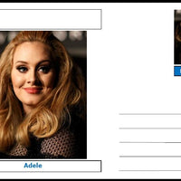 "Personalities - souvenir postcard (glossy 6""x4"", 260 gsm card) - Adele - unused and superb"