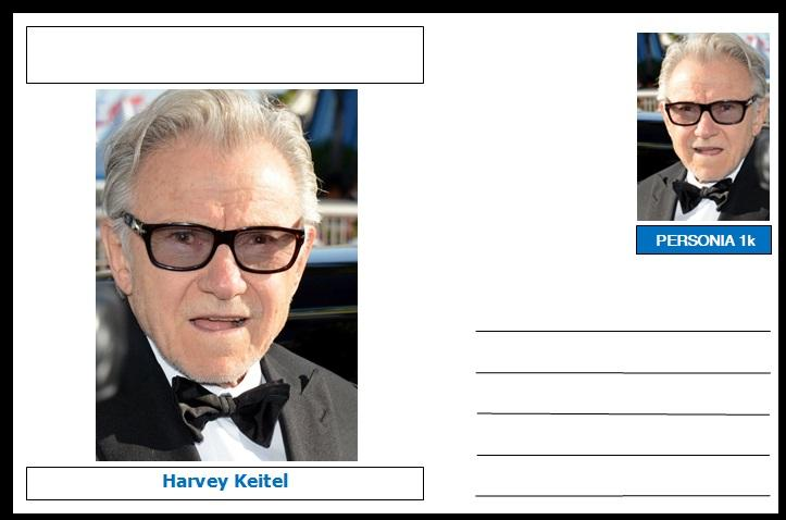 "Personalities - souvenir postcard (glossy 6""x4"", 260 gsm card) - Harvey Keitel - unused and superb"