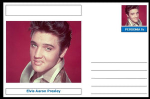 "Personalities - souvenir postcard (glossy 6""x4"", 260 gsm card) - Elvis Presley - unused and superb"