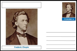 "Personalities - souvenir postcard (glossy 6""x4"", 260 gsm card) - Frederic Chopin - unused and superb"
