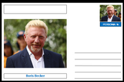 "Personalities - souvenir postcard (glossy 6""x4"", 260 gsm card) - Boris Becker - unused and superb"