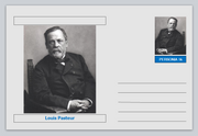 "Personalities - souvenir postcard (glossy 6"" x 4"" [15cm x 10cm] card) - Louis Pasteur physics medical chemistry"