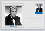 "Personalities - souvenir postcard (glossy 6"" x 4"" [15cm x 10cm] card) - Spencer Tracy actor cinema movies #3"
