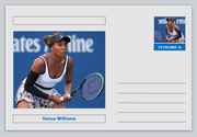"Personalities - souvenir postcard (glossy 6"" x 4"" [15cm x 10cm] card) - Venus Williams sport tennis #1"