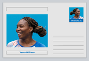 "Personalities - souvenir postcard (glossy 6"" x 4"" [15cm x 10cm] card) - Venus Williams sport tennis #2"