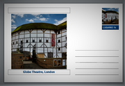 "Landmarks - Globe Theatre, London souvenir postcard (glossy 6""x4""card) unused and fine"
