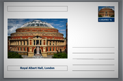 "Landmarks - Royal Albert Hall, London souvenir postcard (glossy 6""x4""card) unused and fine"
