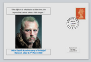 GB 2020 90th death anniversary Fridtjof Nansen antarctic explorer nobel privately produced white glossy postal card 150 x 100mm with 13 may 2020 cds cancel #1