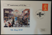 VE Day 75th anniversary - privately produced postal card 150 x 100mm with london cancel ww2 wwii #1