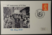 VE Day 75th anniversary - privately produced postal card 150 x 100mm with london cancel ww2 wwii #3