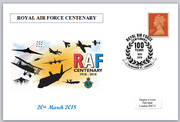 Centenary RAF Royal Air Force aviation aircraft privately produced postal card 150 x 100mm superb used