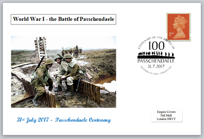 Centenary battle of passchendaele ww1 wwi soldiers militaria privately produced postal card 150 x 100mm superb used