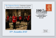 GB 2020 100th anniversary unknown warrior cavell van journey dover to london ww1 ww2 militaria privately produced postal card 150 x 100mm superb used #1