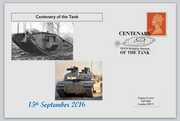 GB 2016 centenary of the tank militaria tanks privately produced (white) glossy postal card 150 x 100mm superb used #4