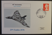 GB 2016 60th anniversary avro vulcan raf aviation militaria privately produced (white) glossy postal card 150 x 100mm superb used