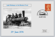 GB 2016 light railways on the western front militaria ww1 privately produced (white) glossy postal card 150 x 100mm superb used #4