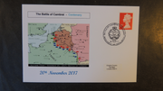 GB 2017 battle of cambrai militaria maps tanks ww1 privately produced (white) glossy postal card 150 x 100mm superb used #1