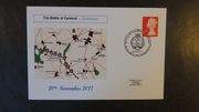GB 2017 battle of cambrai militaria maps tanks ww1 privately produced (white) glossy postal card 150 x 100mm superb used #3