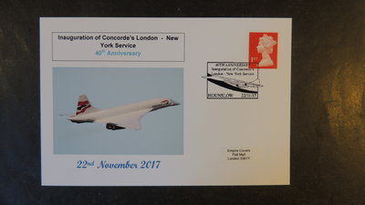 GB 2017 inauguration of concorde transport aviation privately produced (white) glossy postal card 150 x 100mm superb used