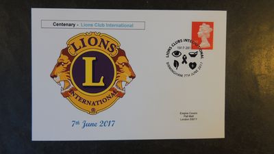 GB 2017 lions club international rotary privately produced (white) glossy postal card 150 x 100mm superb used