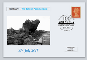 GB 2017 battle of passchendaele militaria tanks privately produced (white) glossy postal card 150 x 100mm superb used #2