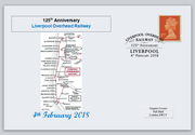 GB 2018 liverpool overhead railway transport privately produced (white) glossy postal card 150 x 100mm superb used #1