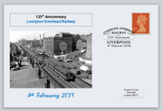 GB 2018 liverpool overhead railway transport privately produced (white) glossy postal card 150 x 100mm superb used #2