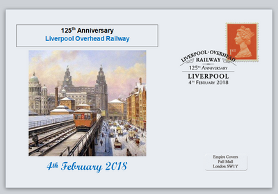 GB 2018 liverpool overhead railway transport privately produced (white) glossy postal card 150 x 100mm superb used #3
