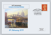 GB 2018 liverpool overhead railway transport privately produced (white) glossy postal card 150 x 100mm superb used #4