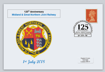 GB 2018 midland and great northern railway transport privately produced (white) glossy postal card 150 x 100mm superb used #1