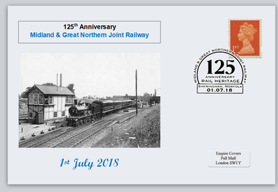 GB 2018 midland and great northern railway transport privately produced (white) glossy postal card 150 x 100mm superb used #2