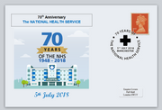GB 2018 70th anniversary nhs national health service medical privately produced (white) glossy postal card 150 x 100mm superb used #1