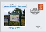 GB 2019 200th anniversary opening mansfield and pinxton railway transport privately produced (white) glossy postal card 150 x 100mm superb used