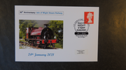 GB 2019 50th aniversary isle of wight railway transport privately produced (white) glossy postal card 150 x 100mm superb used #1