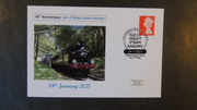 GB 2019 50th aniversary isle of wight railway transport privately produced (white) glossy postal card 150 x 100mm superb used #2