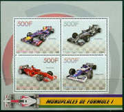 Congo 2015 racing cars formula 1 sport f1 m/sheet mnh