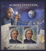 Ivory Coast 2012 albert einstein formulas physics m/sheet mnh