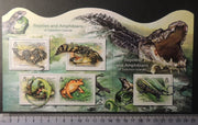 Solomon Islands 2012 reptiles and amphibians frogs snakes crocodile s/s m/sheet mnh