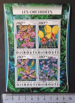 Djibouti 2016 flowers orchids m/sheet mnh #2