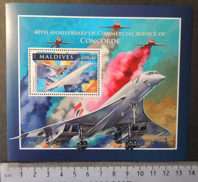 Maldives 2016 concorde aviation transport red arrows raf s/sheet mnh
