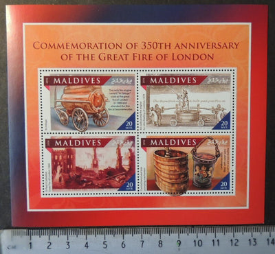 Maldives 2016 great fire of london disasters m/sheet mnh