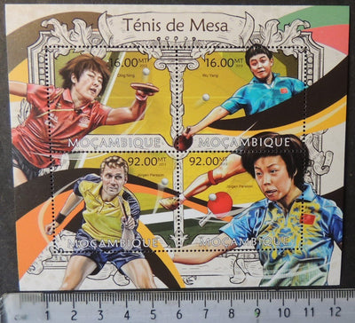 Mozambique 2013 table tennis sport ding ning wu yang persson m/sheet mnh