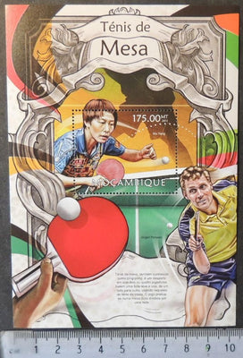 Mozambique 2013 table tennis sport wu yang persson souvenir sheet mnh