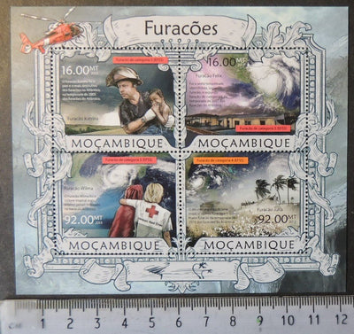 Mozambique 2013 hurricanes weather disasters m/sheet mnh