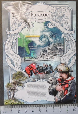 Mozambique 2013 hurricanes weather disasters souvenir sheet mnh