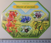 Solomon Islands 2014 world of orchids flowers m/sheet mnh
