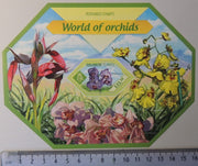 Solomon Islands 2014 world of orchids flowers souvenir sheet mnh