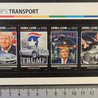 Sierra Leone 2017 trump's transport aviation cars helicopter m/sheet mnh
