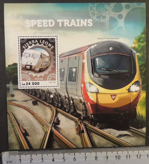 Sierra Leone 2016 speed trains ub2x 2501 railways transport s/sheet mnh